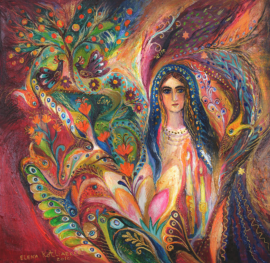 Original Painting - Shabbat Queen by Elena Kotliarker