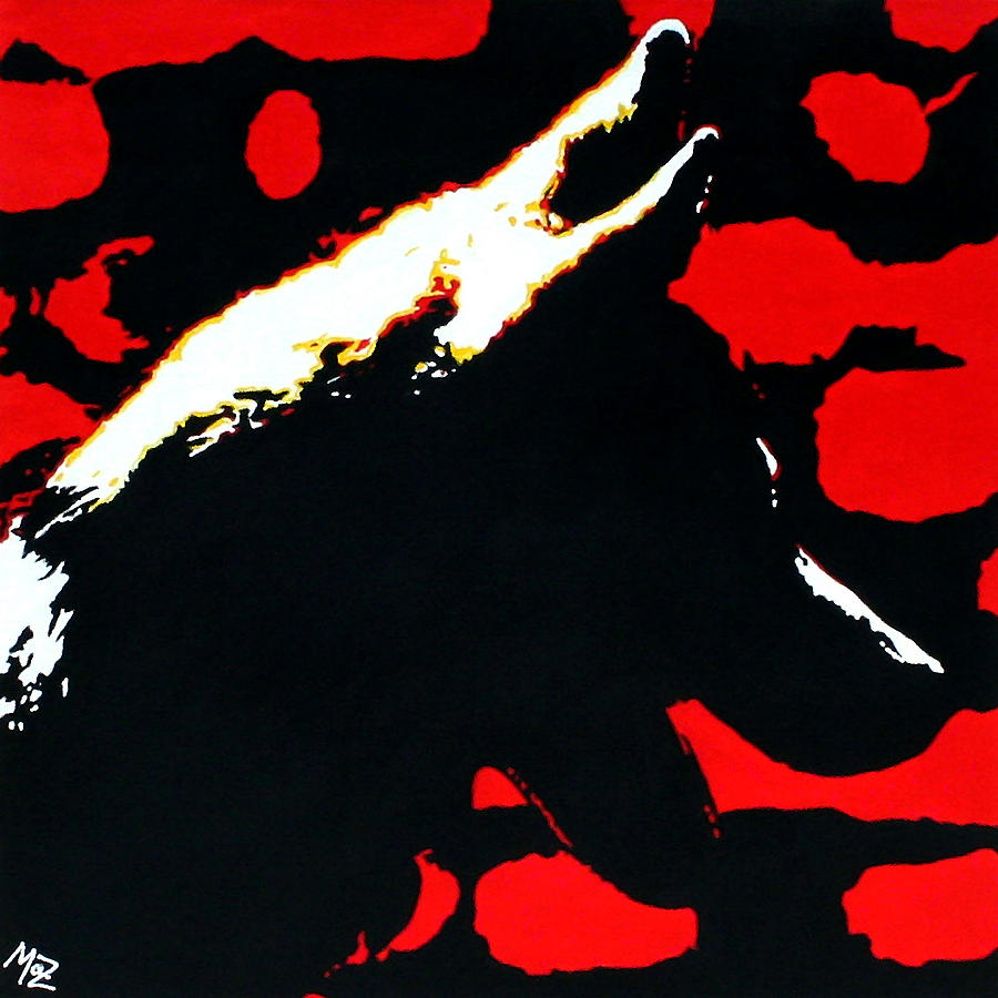 Dog Painting - Shadow by Maz
