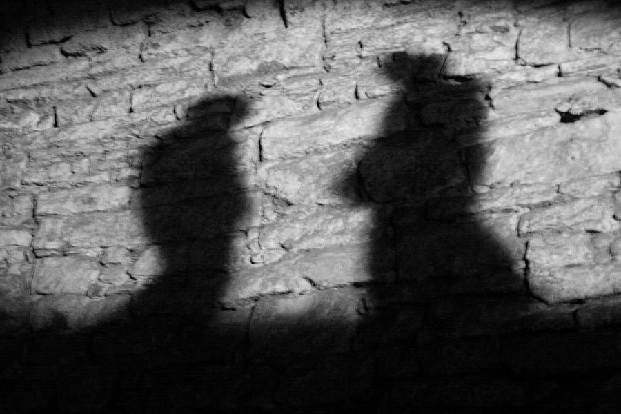 Wall Photograph - Shadow On The Wall by Christine Till