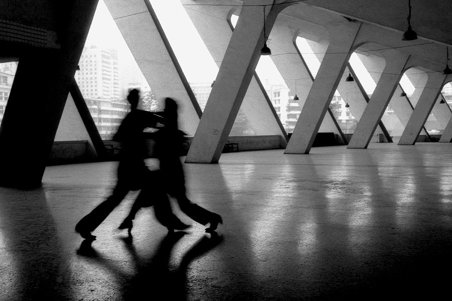 Black And White Photograph - Shadow Tango by Lian Wang
