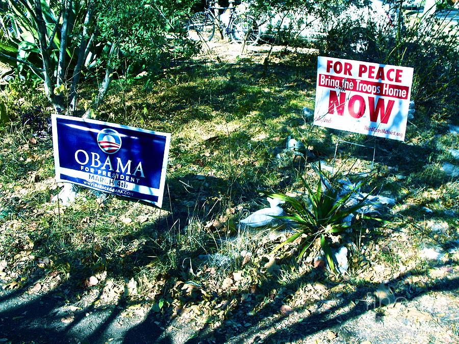President Obama Photograph - Shadows Across The Dream by Chuck Taylor
