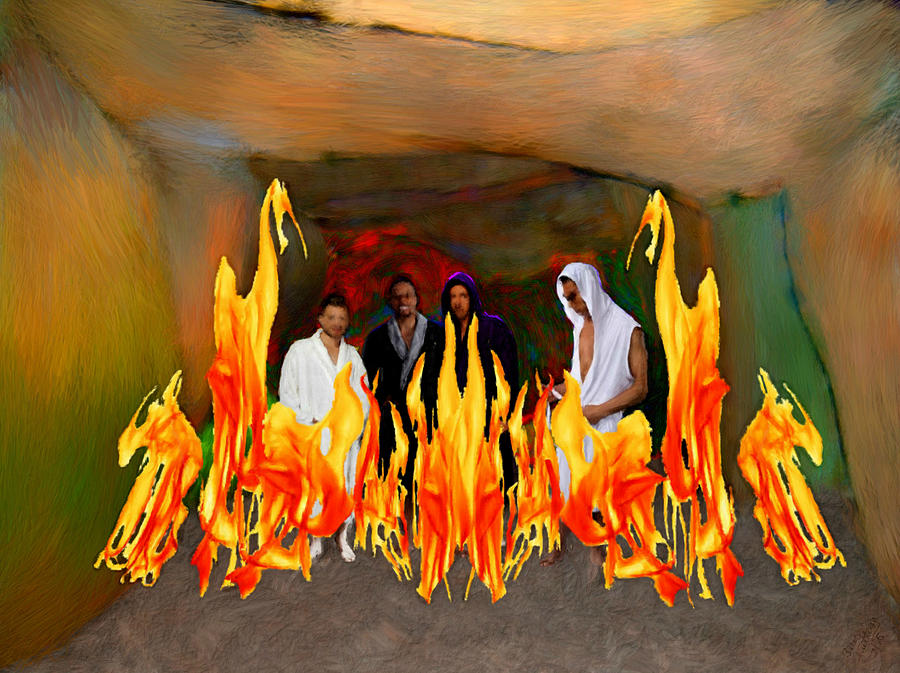 Shadrach Meshach And Abednego Painting by Bruce Nutting