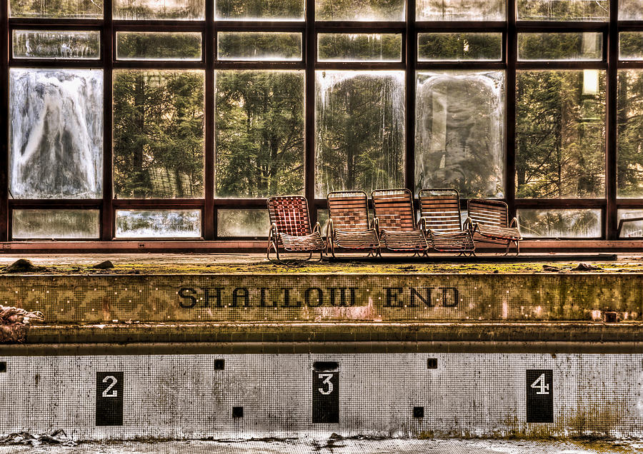 Abandoned Photograph - Shallow End by Evelina Kremsdorf