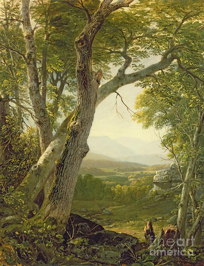 American Landscape; View; Romantic; Hudson River School; Mountains Painting - Shandaken Ridge - Kingston by Asher Brown Durand