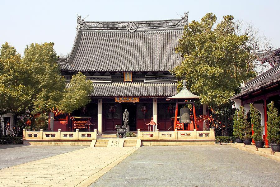 Shanghai Confucius Temple - Wen Miao - Main Temple Building Photograph