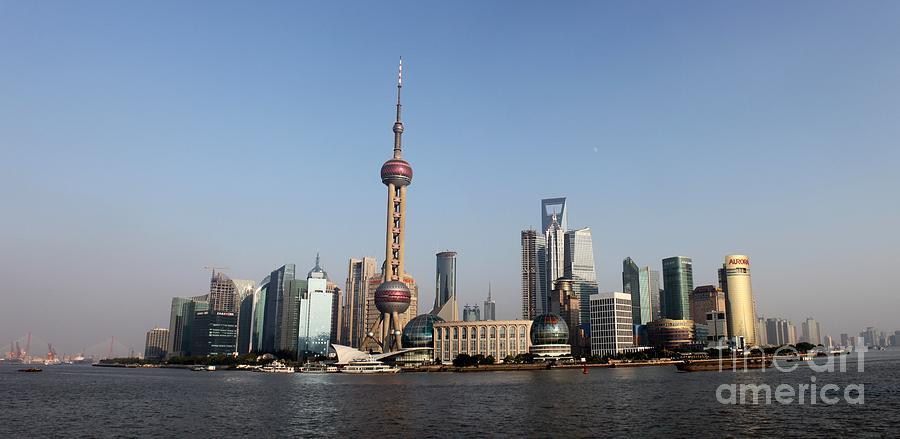 China Photograph - Shanghai Skyline by Thomas Marchessault