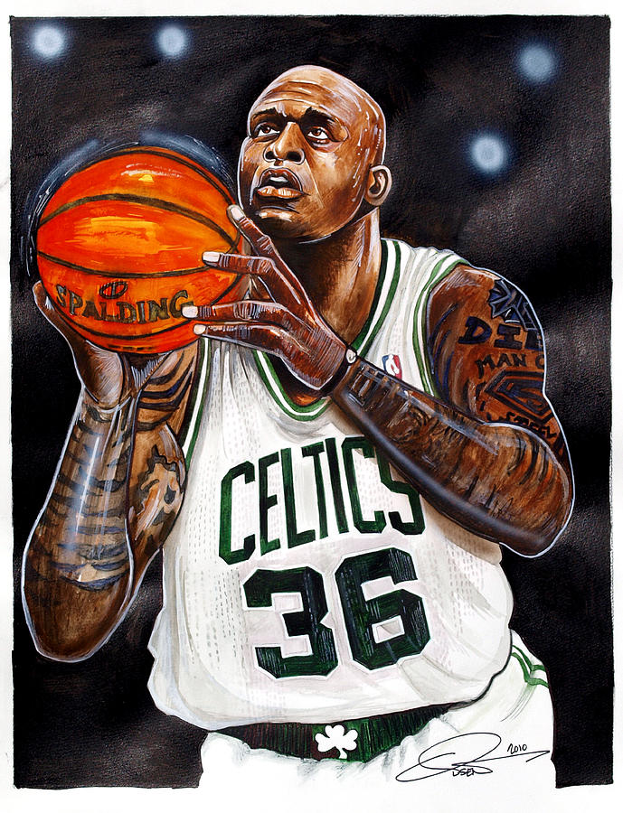 Shaquille Oneal Painting