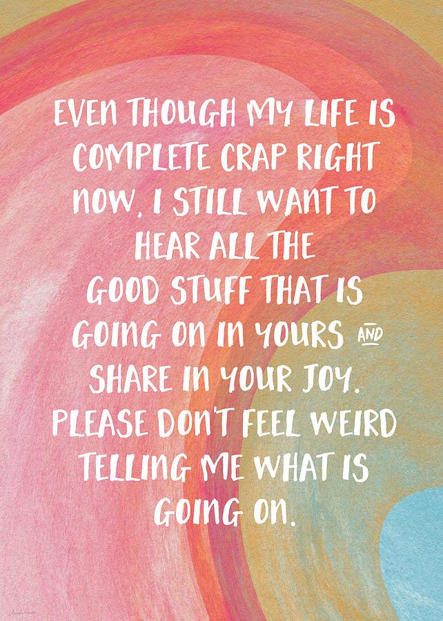 Share Your Joy- Empathy Card By Linda Woods Digital Art