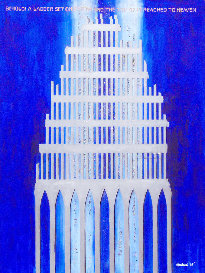 Judaica Painting - Shattered  by Mordecai Colodner