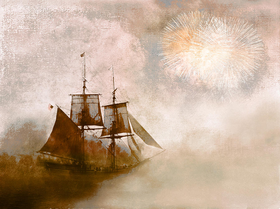 Tall Ships Photograph - She Returns Home by Jeff Burgess