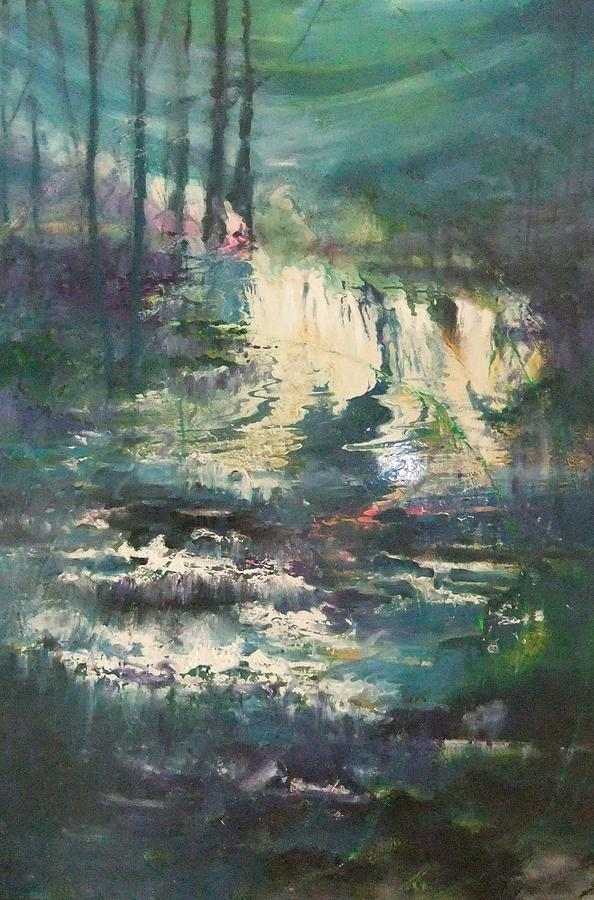 Waterfall Painting - Sheen Falls by Joyce Garvey