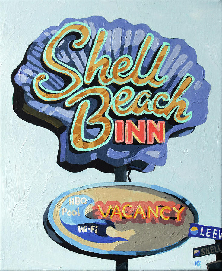Shell Beach Inn Painting