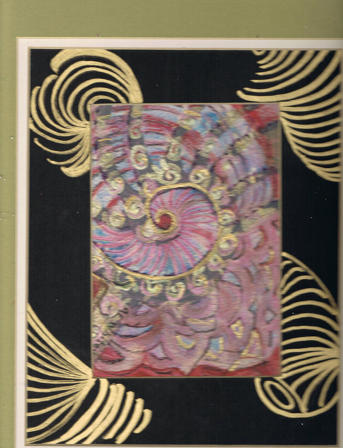 Shells Painting - Shells And Golden Rings by Anne-Elizabeth Whiteway