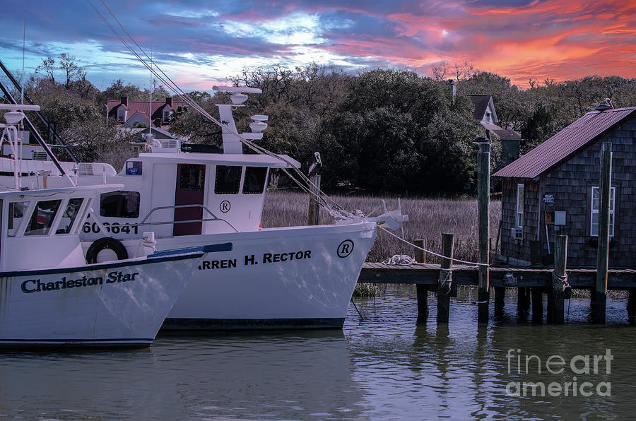 Shem Creek Majestic Sky Photograph