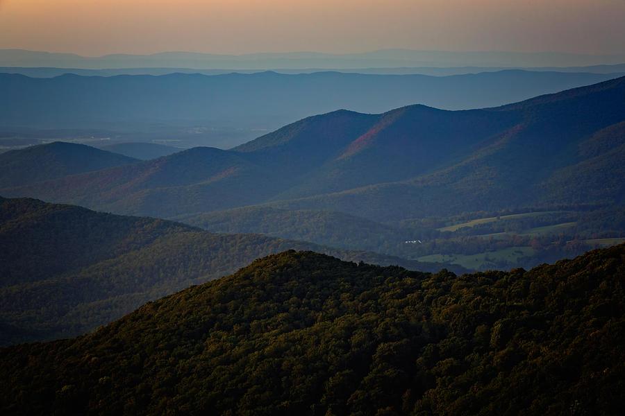 Shenandoah Valley At Sunset Photograph