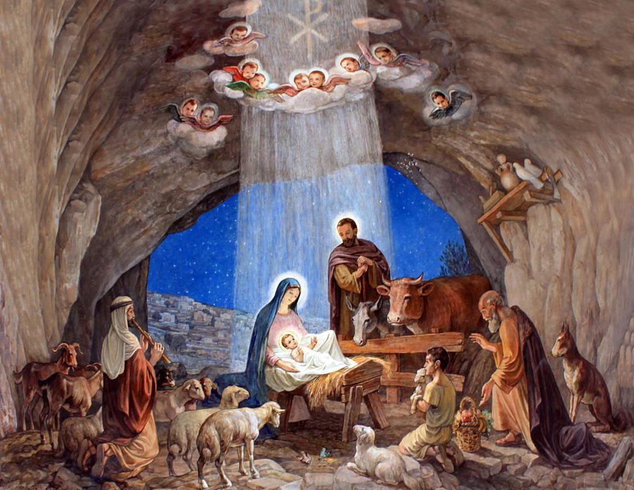 Photo Photograph - Shepherds Field Nativity Painting by Munir Alawi