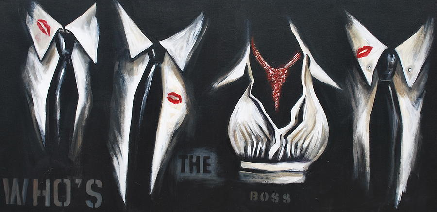Art Painting - Shes The Boss by Lori McPhee