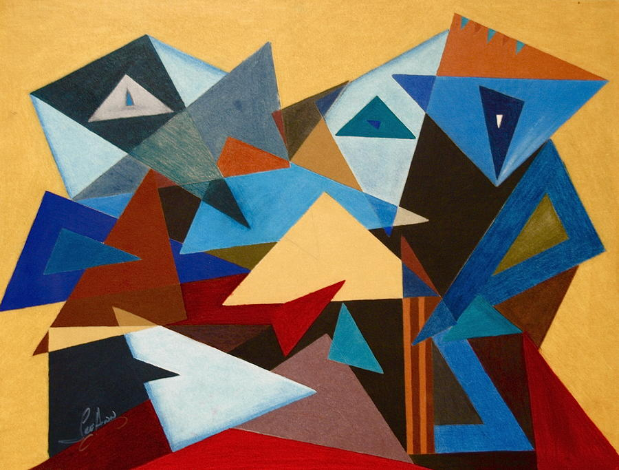 Shift shape painting by leeann alexander for Artists who use shapes in their paintings