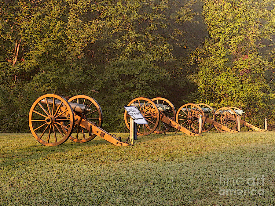 Shiloh Cannons Photograph