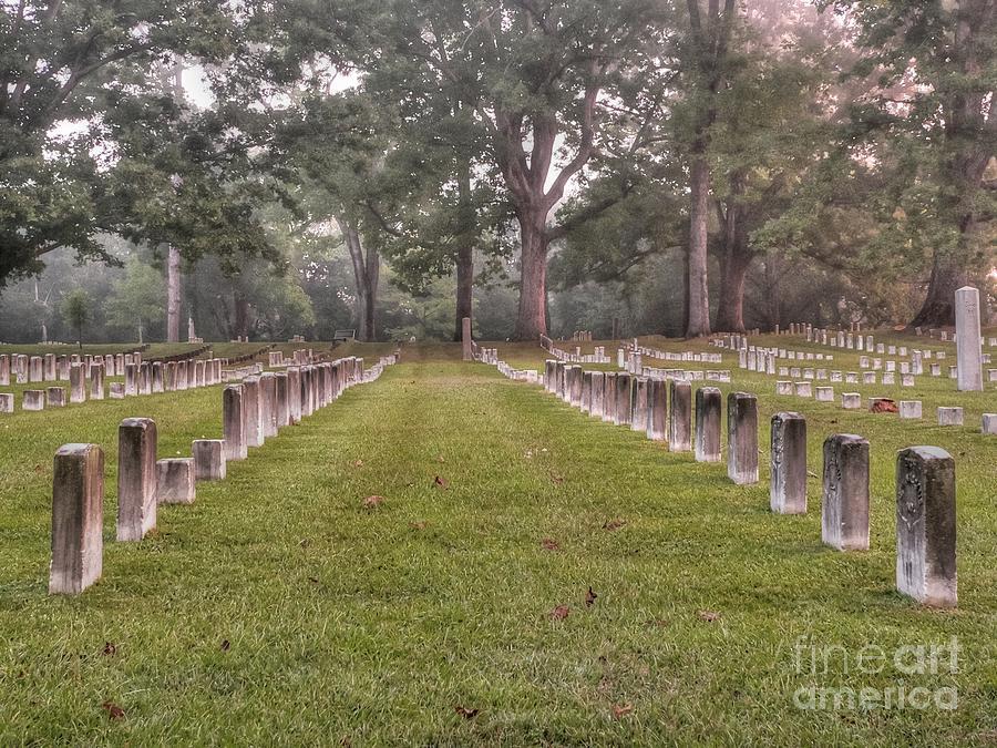Shiloh National Cemetery Photograph - Shiloh Morning by David Bearden