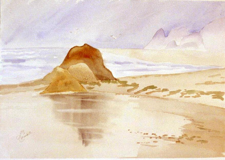 Seascape Painting - Shining Sands by Leo Chiantelli