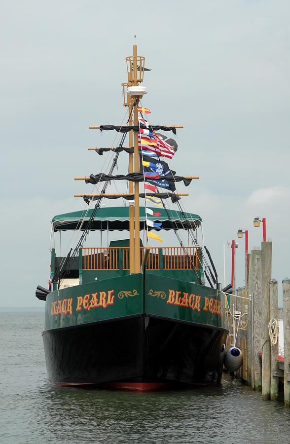 Black Pearl Pirate Sailing Ship Photograph - Ship 15 by Joyce StJames