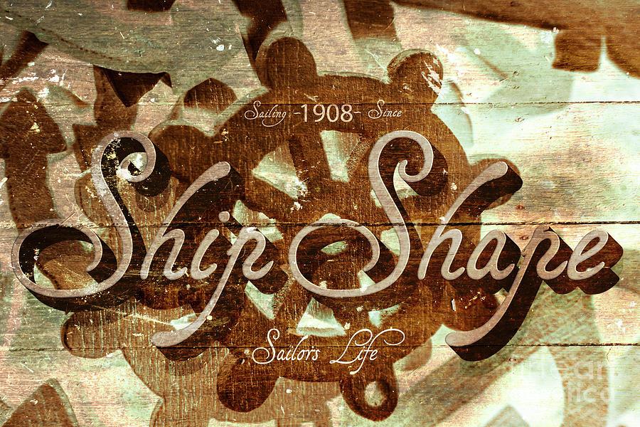 Ship Shape 1908 Digital Art