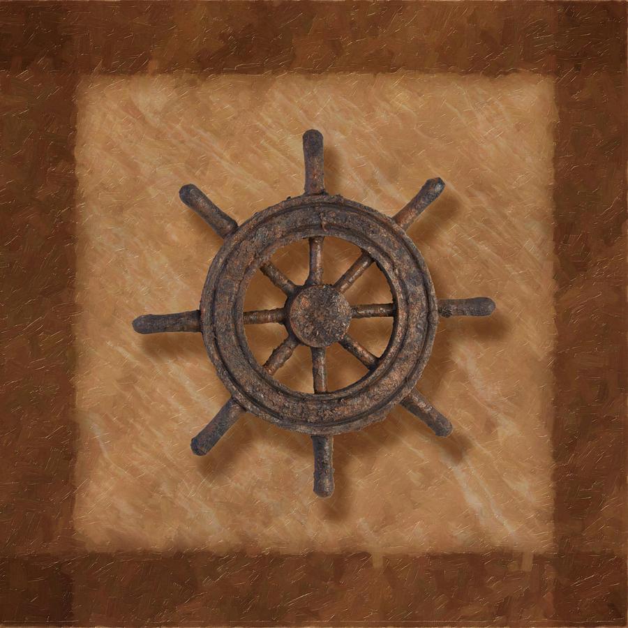 Wheel Photograph - Ships Wheel by Tom Mc Nemar