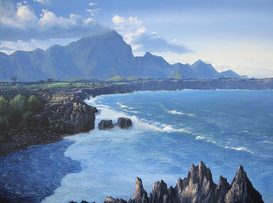 Hawaii Painting - Shipwreck Beach by Ian Henderson