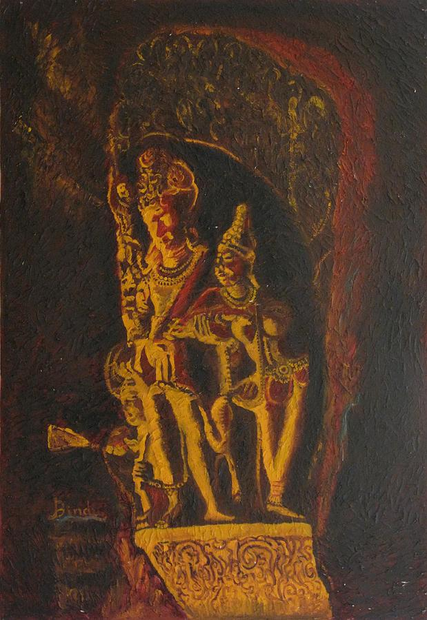 Shiva Parvati Painting