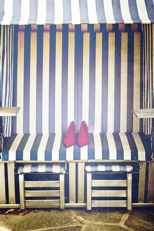 Shoes In A Beach Chair Photograph