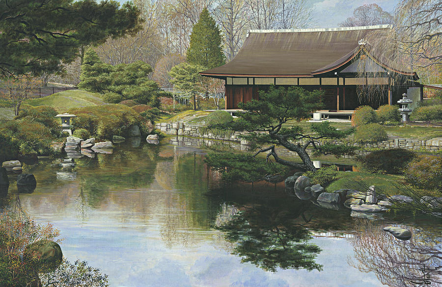 Shofuso Japanese House And Garden Philadelphia Painting By Ed Ryder