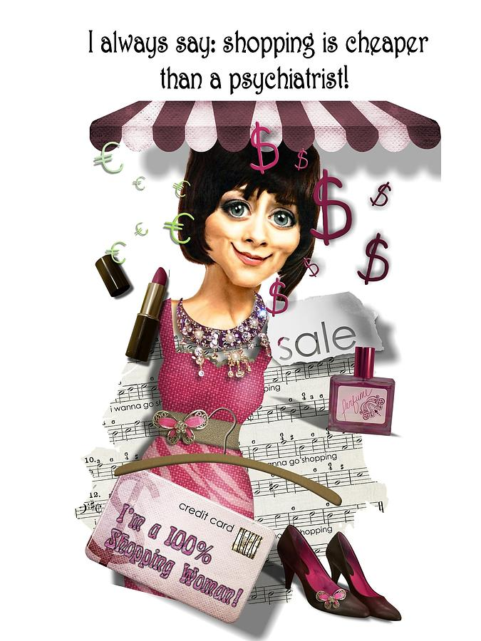 Shopping Digital Art - Shopping Woman by Larisa Isaeva