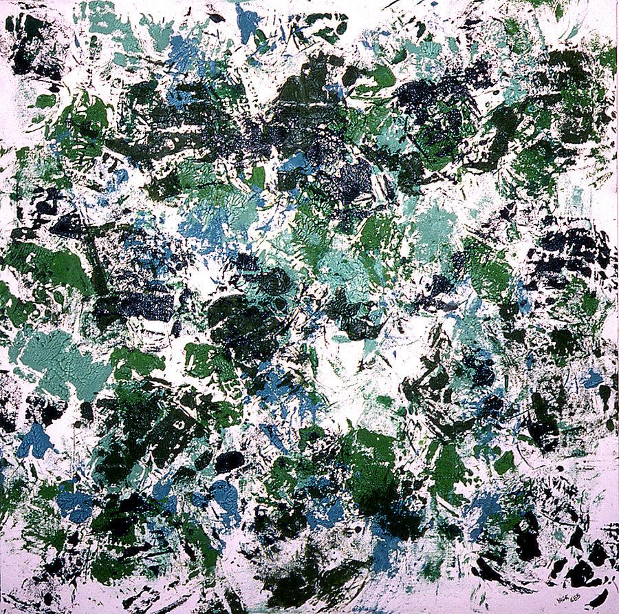 Hockey Painting - Shoulder Pads by Ken Yackel
