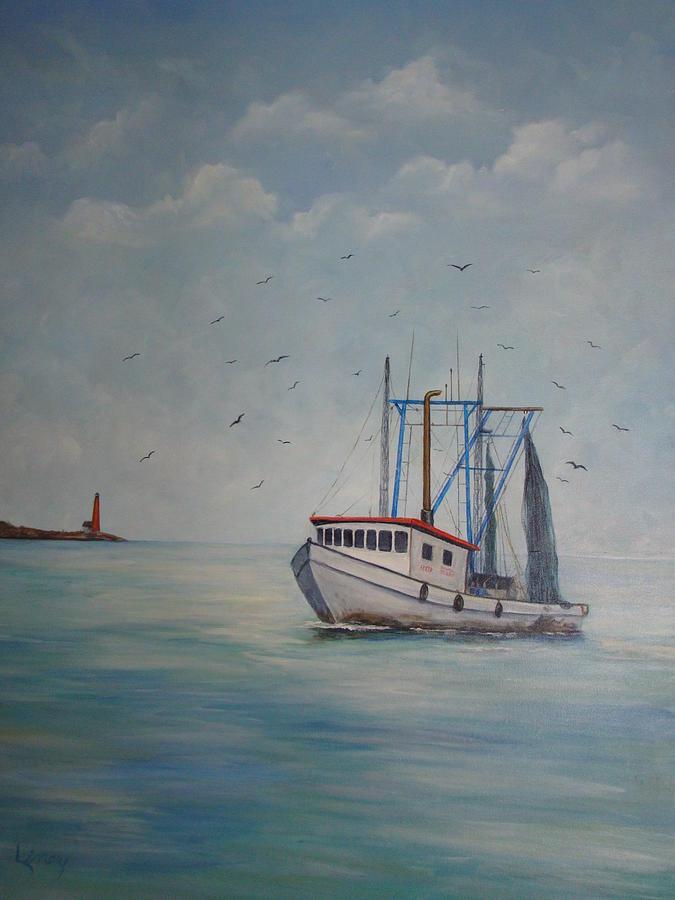 Shrimp Boat Painting - Shrimp Boat by Carolyn Speer