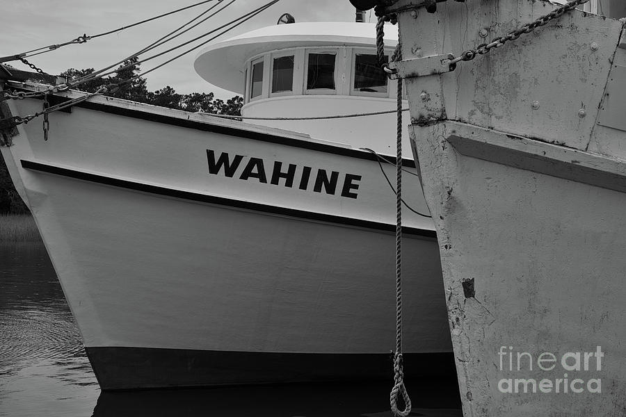 Shrimp Boat Pilot House In Black And White Photograph
