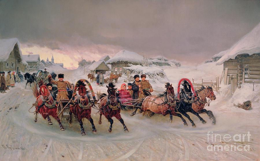 Bal194495 Painting - Shrovetide by Petr Nicolaevich Gruzinsky