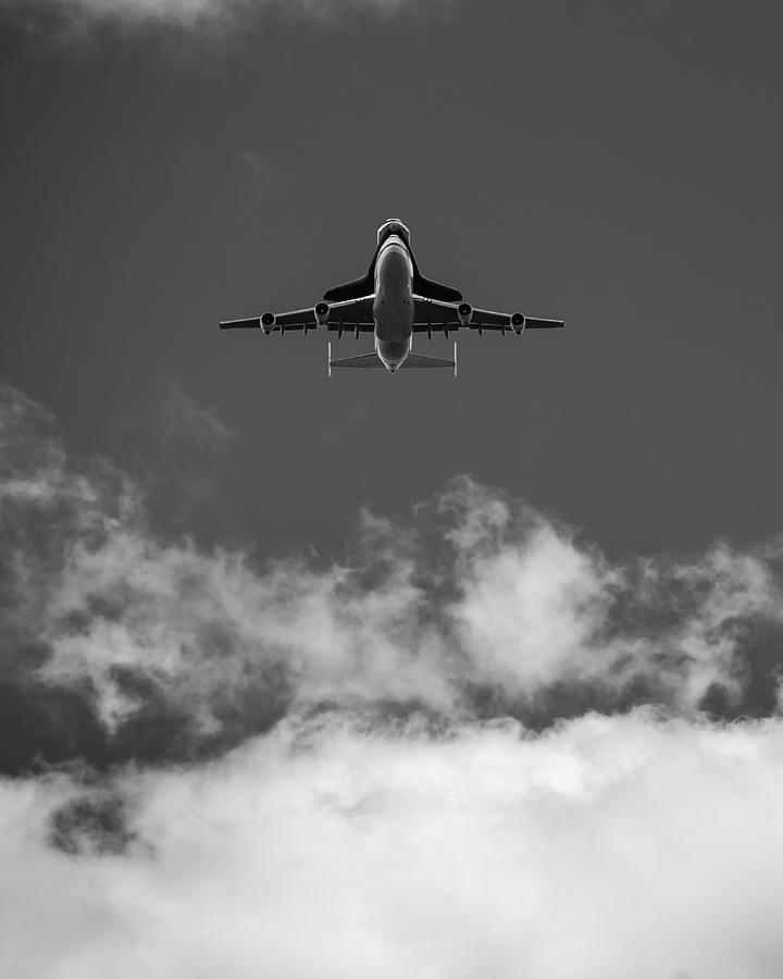 Space Shuttle  Photograph - Shuttle Enterprise In Black And White by Anthony S Torres