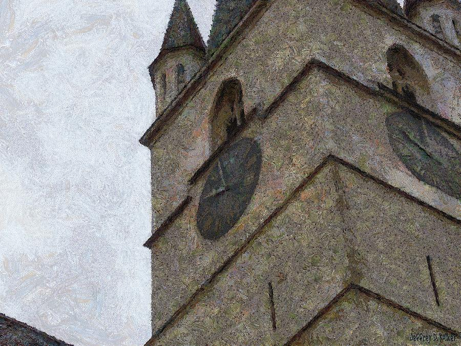 Sibiu Clock Tower Painting