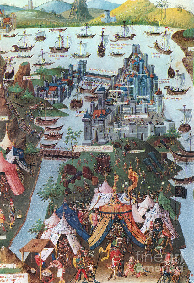 History Photograph - Siege Of Constantinople, 1453 by Photo Researchers