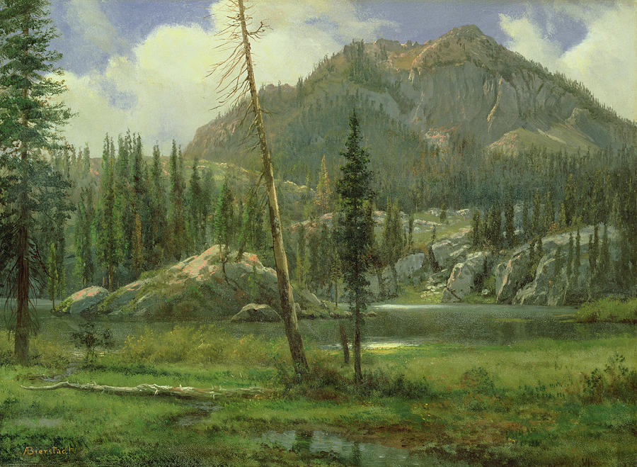 Bierstadt Painting - Sierra Nevada Mountains by Albert Bierstadt