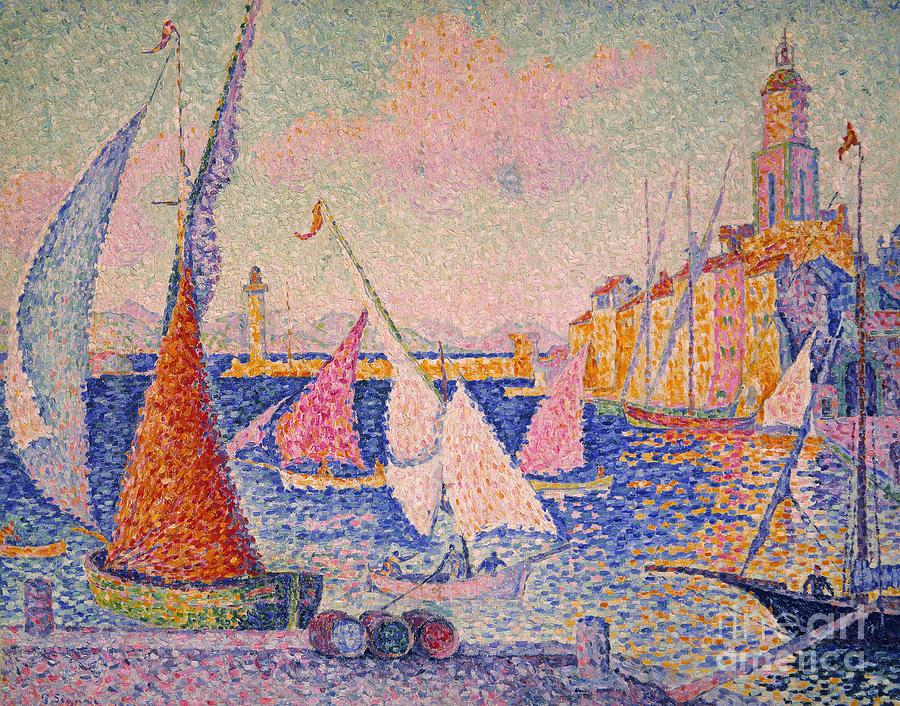 Signac: St. Tropez Harbor Photograph