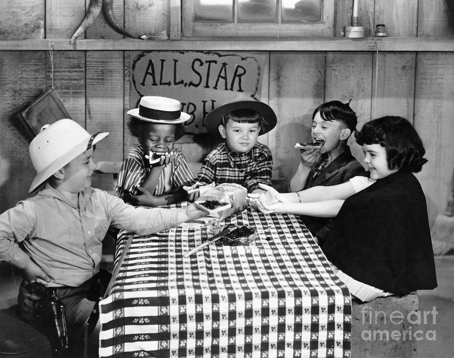 -children- Photograph - Silent Film: Little Rascals by Granger