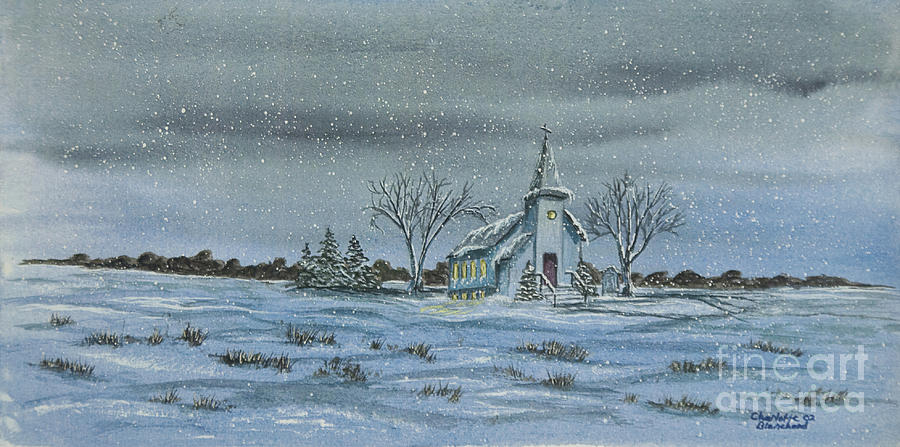 Winter Scene Paintings Painting - Silent Night by Charlotte Blanchard