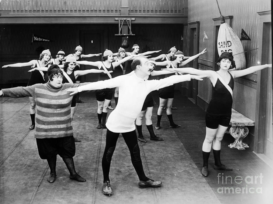 -miscellaneous Silent Films- Photograph - Silent Still: Gymnasium by Granger