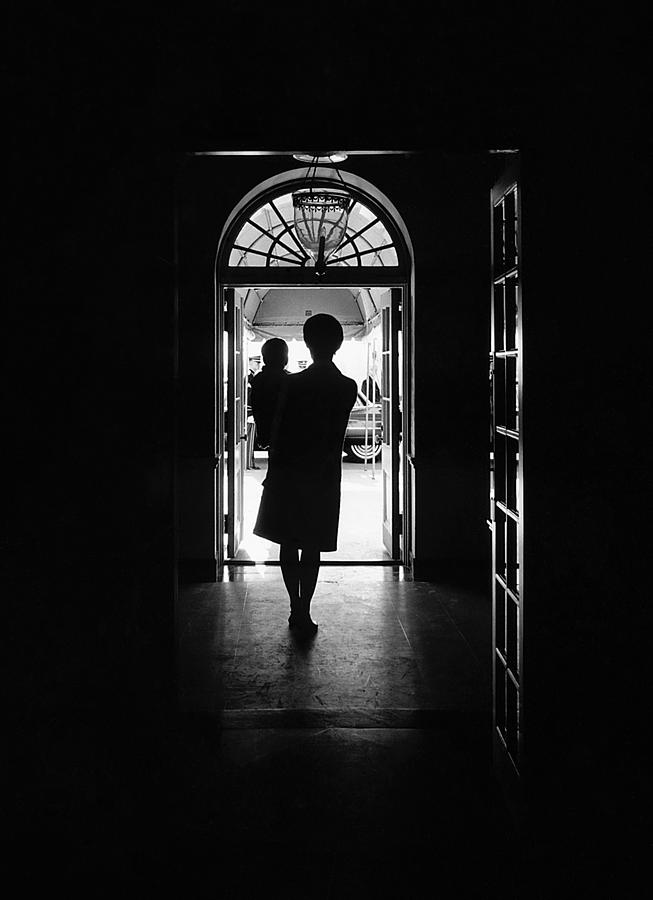History Photograph - Silhouette Portrait Of Jacqueline by Everett