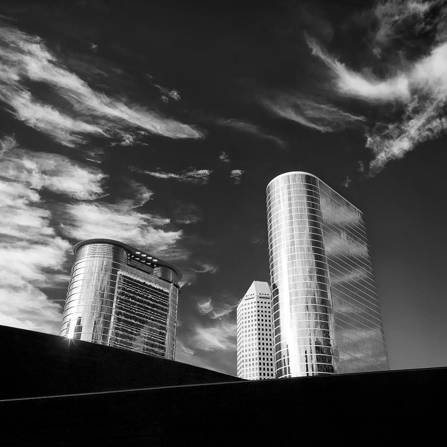 Houston Photograph - Silver Towers by Dave Bowman