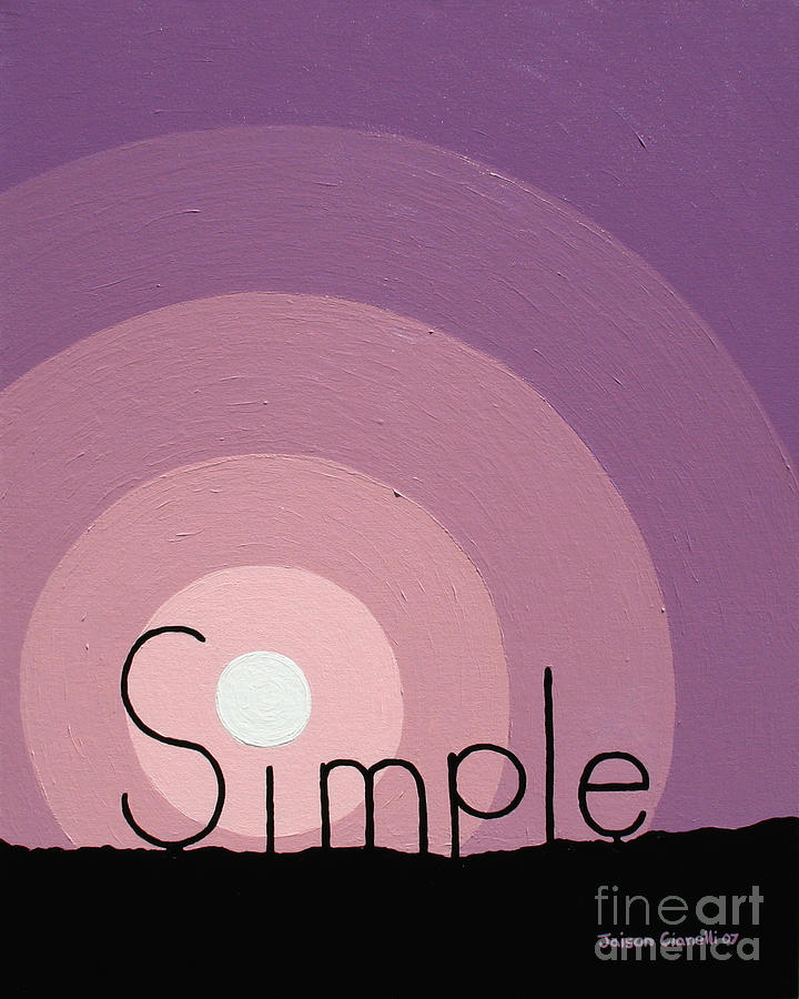 Inspirational Painting - Simple by Jaison Cianelli