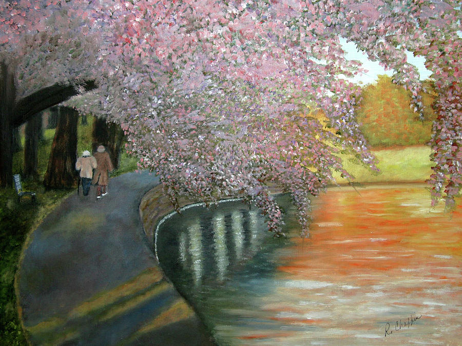 Park Painting - Simple Pleasures by Robin Chaffin