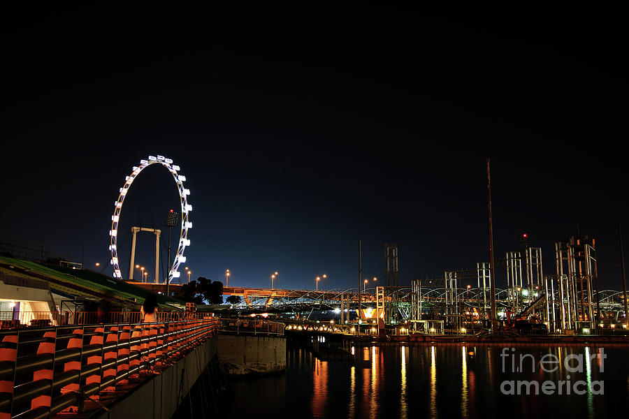 Asia Photograph - Singapore Waterfront by Jaroon Ittiwannapong